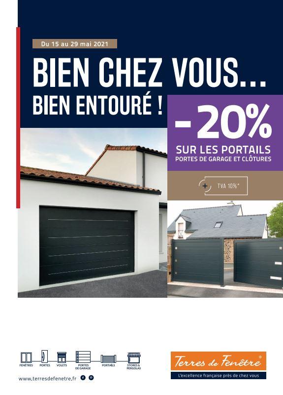 Promotion bien chez vous portail garage clôture gibault store niort